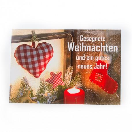 """Weihnachtskarte """"Weihnachtsfenster"""""""